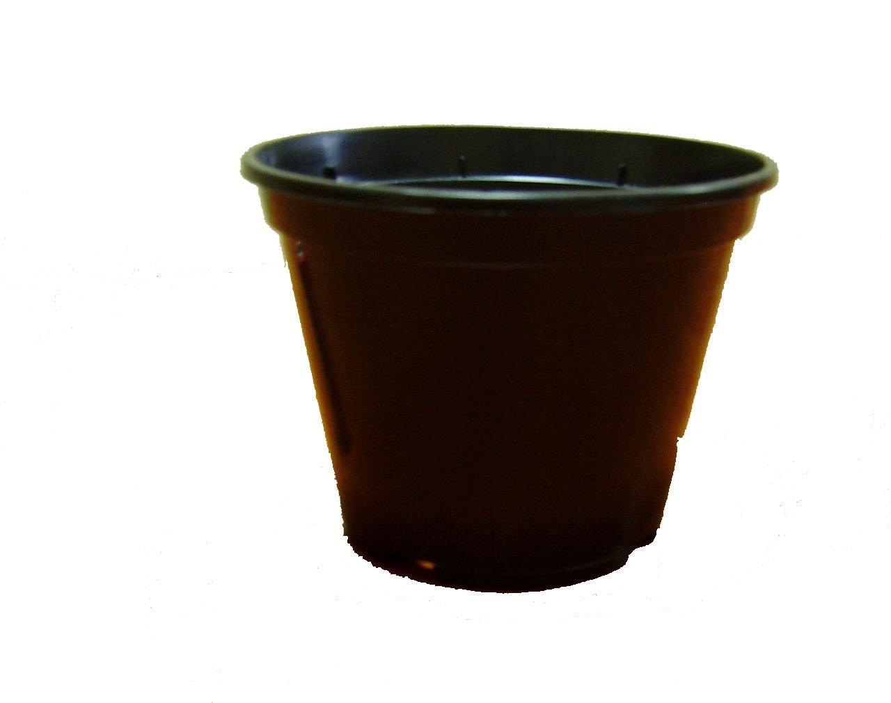 """Пластиковый стаканчик  для рассады d=100мм черный  """"Алеана"""""""