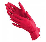 Перчатки нитриловые неопудренные Красный