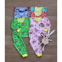 Пижама детская байка на манжетах