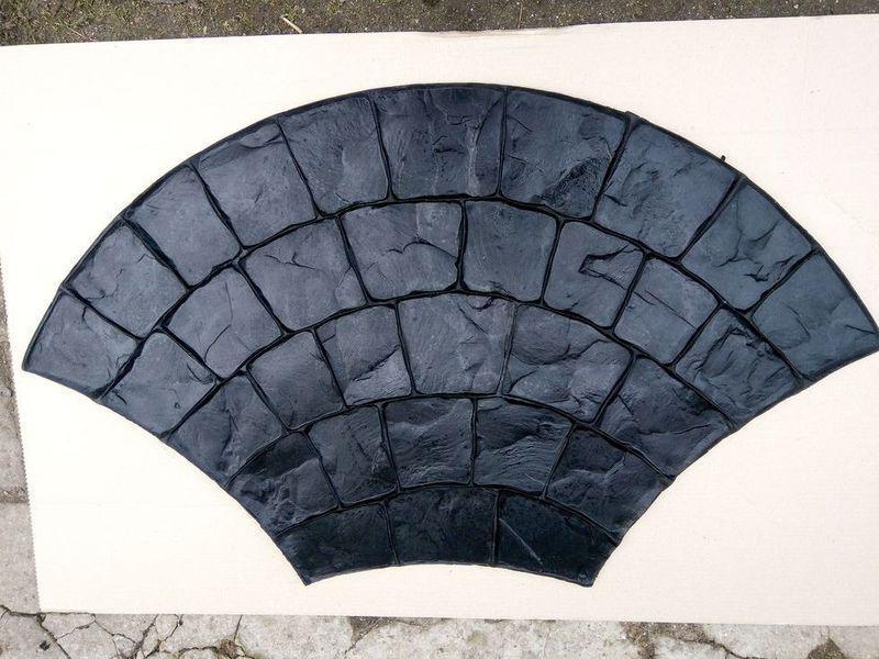 """Гумовий штамп для штампованого бетону """"Віяло Великий"""" (форма для штампованого бетону)"""