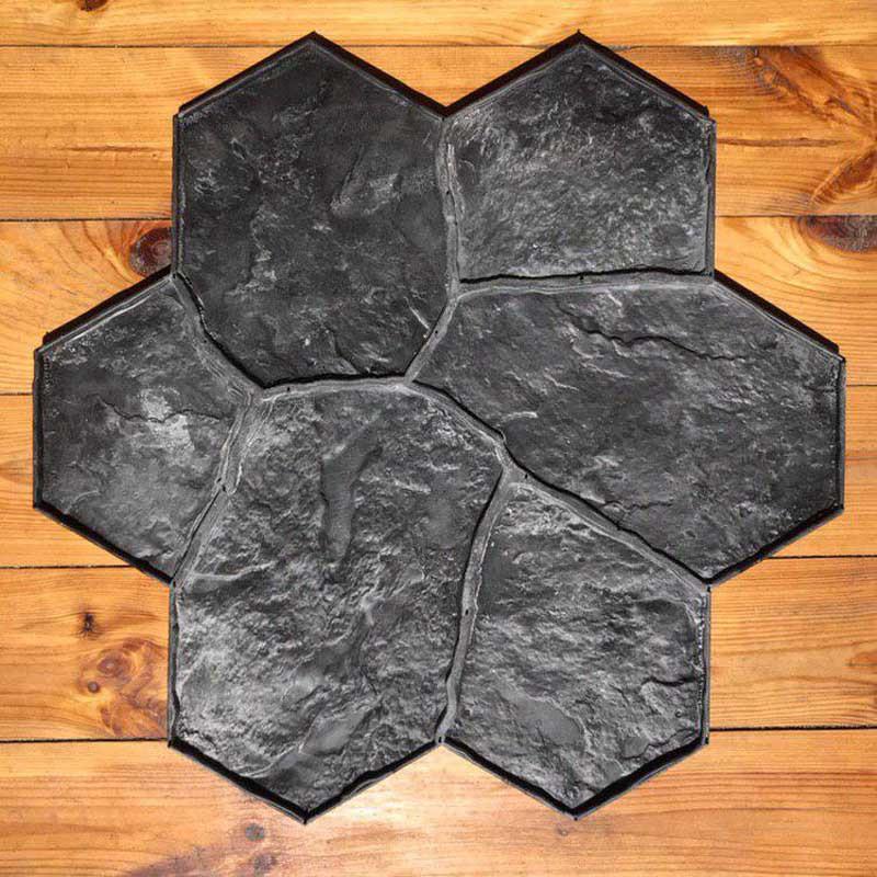 """Поліуретановий штамп для бетону і штукатурки """"Квітка Великий"""" (Бутовий Камінь), для підлоги і доріжок"""