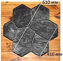 """Поліуретановий штамп для бетону і штукатурки """"Квітка Великий"""" (Бутовий Камінь), для підлоги і доріжок, фото 2"""
