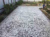 """Поліуретановий штамп для бетону і штукатурки """"Квітка Великий"""" (Бутовий Камінь), для підлоги і доріжок, фото 3"""