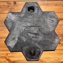 """Поліуретановий штамп для бетону і штукатурки """"Квітка Великий"""" (Бутовий Камінь), для підлоги і доріжок, фото 4"""