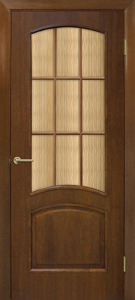 Дверь межкомнатная Омис Капри СС кора бронза орех