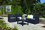 Набор садовой мебели Corona Lounge Set Graphite ( графит ) из искусственного ротанга ( Allibert by Keter ), фото 4