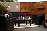Набор садовой мебели Corona Lounge Set Graphite ( графит ) из искусственного ротанга ( Allibert by Keter ), фото 7