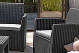 Набор садовой мебели Corona Lounge Set Graphite ( графит ) из искусственного ротанга ( Allibert by Keter ), фото 5