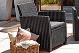 Набор садовой мебели Corona Lounge Set Graphite ( графит ) из искусственного ротанга ( Allibert by Keter ), фото 10