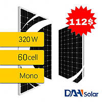 Сонячна панель DHM60X (DAH SOLAR), монокристал, потужність 320 Вт, 5 ВВ, 60 CELL