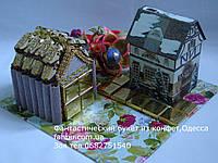 Новогодний и рождественский чайный домик и конфетный гараж