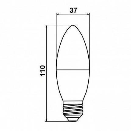 Світлодіодна лампа Biom BT-568 C37 7W E27 4500К матова, фото 2