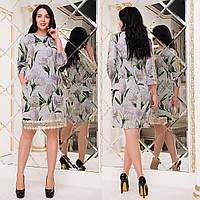 """Теплое платье большого размера с принтом """"Максим"""", фото 1"""