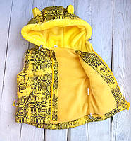 "Теплая жилетка детская ""YellowLabel"" 74-80 (1 год) 86-92 (2 года) 98-104 (4 года) 116(5-6 лет)"