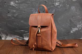 Рюкзак модель №111 мини Кожа винтажная цвет коньяк