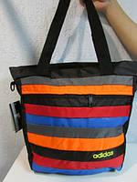 Сумка женская Adidas 3005 разноцветная полоска код 532А