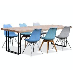 Современный Твердый Обеденный стол из массива древесины