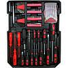 Набор инструментов в чемодане 157 предметов LEX 186CC-2, набор ключей и отвёрток, инструменты для дома, фото 4