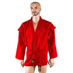 Самбовка Mizuno, куртка+шорты(эластан), красный, рост 140 см SMR-58140