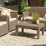 Набор садовой мебели Corona Lounge Set Cappuccino ( капучино ) из искусственного ротанга, фото 5