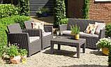 Набор садовой мебели Corona Lounge Set Cappuccino ( капучино ) из искусственного ротанга, фото 8