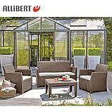 Набор садовой мебели Corona Lounge Set Cappuccino ( капучино ) из искусственного ротанга, фото 9