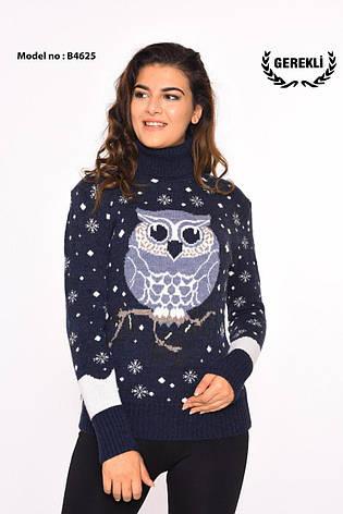 Вязаные женские шерстяные свитера с совой оптом и в розницу G 4625, фото 2