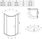 Душова кабіна напівкругла Ravak Pivot PSKK3 Transparent поворотна трьохелементна, фото 4