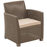 Набор садовой мебели Corona Lounge Set Cappuccino ( капучино ) из искусственного ротанга, фото 10