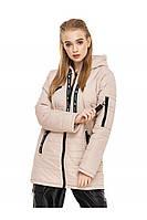 ✔️ Демисезонная женская куртка парка прямого кроя 44-54 размера бежевая