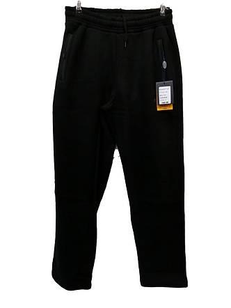 Штани теплі чоловічі Escetic прямі зимові спортивні штани Чорні, фото 2