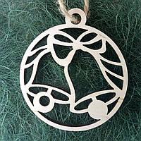 Деревянные новогодние украшения Shasheltoys Шар 9 см (010222)