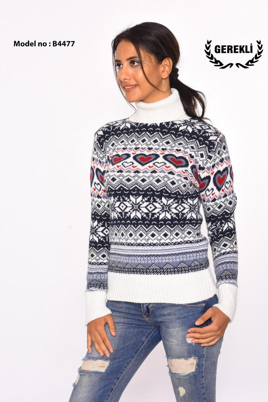 Вязаные женские шерстяные свитера оптом и в розницу G 4477