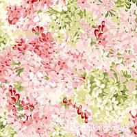 53014 Весенняя мелодия. Ткань с цветочным принтом для кукол, рукоделия, декора и шитья.