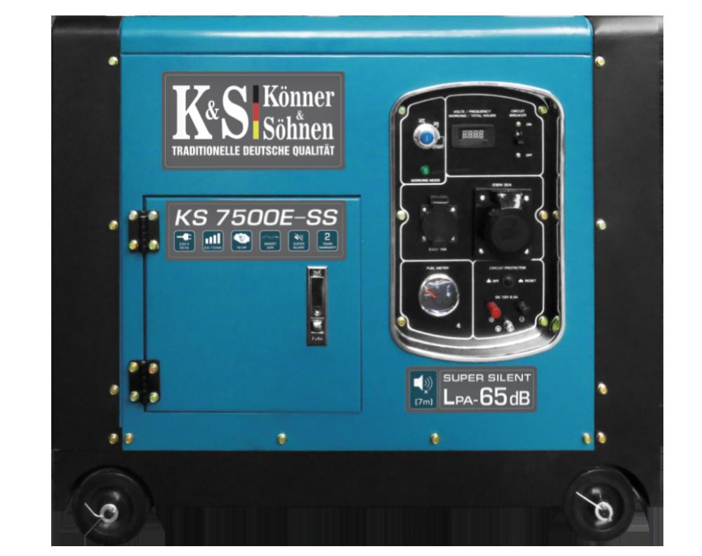 Генератор бензиновый Konner&Sohnen KS 7500E SS