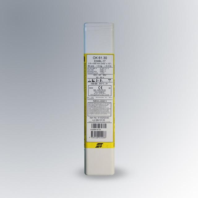 Электроды OK 61.30 d.2,0mm, нержавейка ER308L (пачка 1,6кг) ESAB