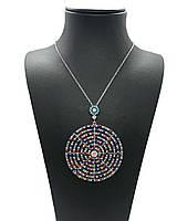 """Кулон з срібла 925 з кристалами Swarovski Beauty bar """"Коло"""" 50 см, фото 1"""
