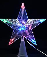 Новогодняя Верхушка Звезда с Подсветкой 18 см на Елку, фото 1