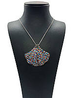 "Кулон из серебра 925 с кристаллами Swarovski Beauty bar ""Ракушка"" 45 см, фото 1"