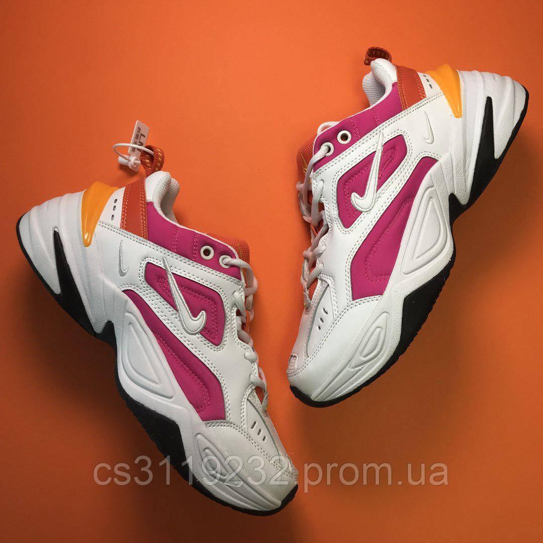 Женские кроссовки  Nike M2K Tekno White Pink(бело-розовые)