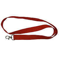 Шнурок для бейджа с одним карабином полиэстеровый, Ardix SP120, 20 мм, красный, 07-014-RD