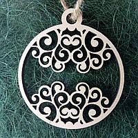 Деревянные новогодние украшения Shasheltoys Шар 9 см (010226)