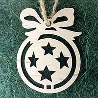 Деревянные новогодние украшения Shasheltoys Шар 9 см (010227)