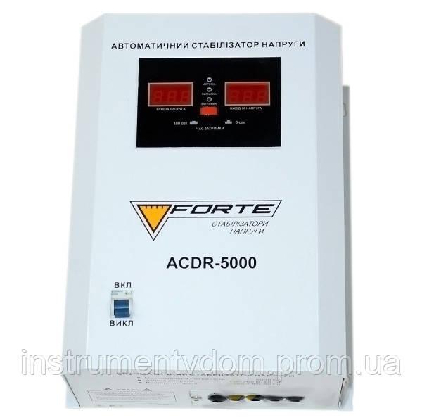 Стабилизатор напряжения FORTE ACDR-5kVA (релейный, настенный)