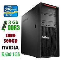 P300 Рабочая станция Lenovo ThinkStation E3-1220v3/DDR 8Gb/HDD 500Gb/ Nvidia Quadro K600 1Gb