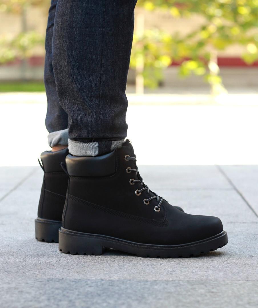 """Зимние ботинки на меху """"Черные"""""""