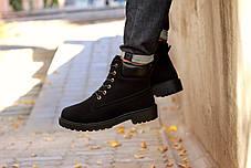 """Зимние ботинки на меху """"Черные"""", фото 3"""