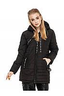 ✔️ Демисезонная женская куртка парка прямого кроя 44-54 размера черная