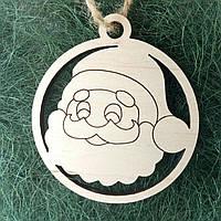 Деревянные новогодние украшения Shasheltoys Шар 9 см (010229)