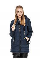 ✔️ Демисезонная женская куртка парка прямого кроя 44-54 размера синий
